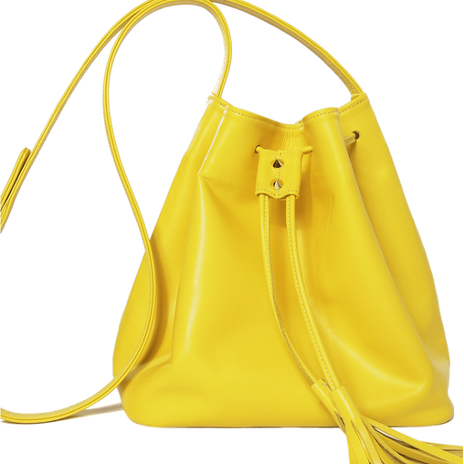 Yellow Calf Crossbody Bag