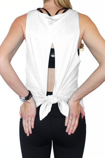 White Tieback Activewear Top