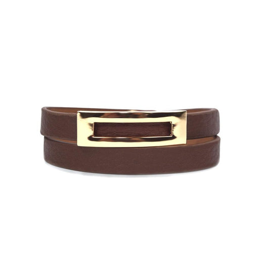 Buckled Leather Bracelet Sienna
