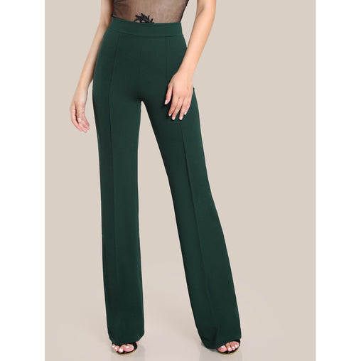 High Rise Piped Dress Pants - Fashiontage