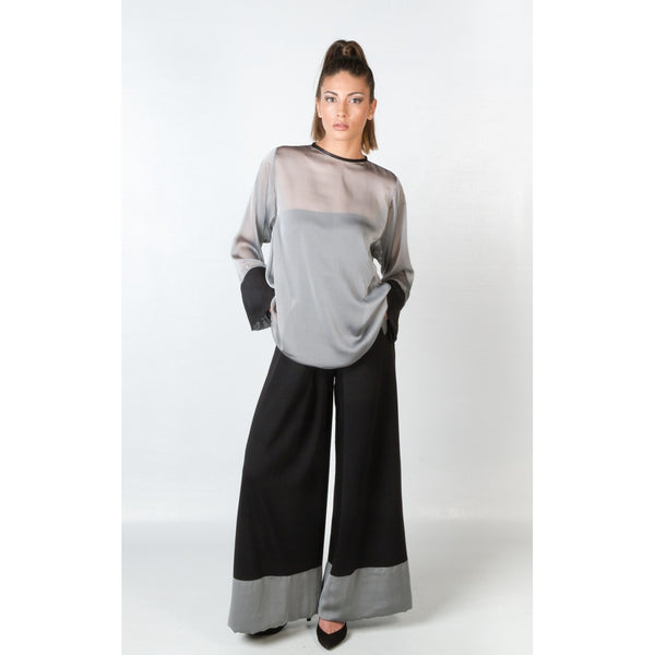 High Waisted Pants - Women's Trendy Black Knit Pant