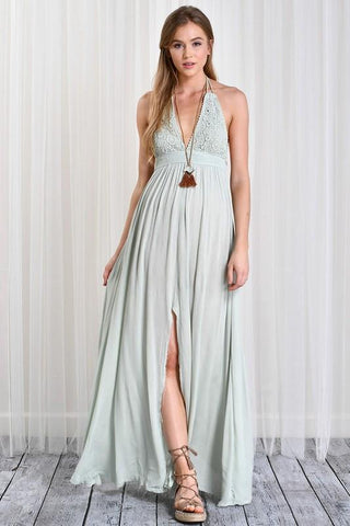 Formal Dresses - Women's Trendy Twilight Terrace Maxi Dress