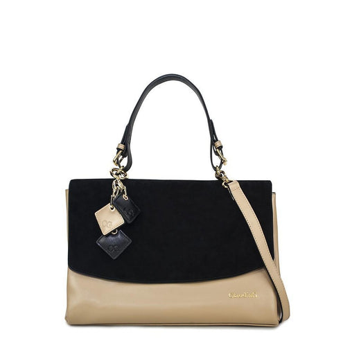 Black Flap Pu Long Handbag