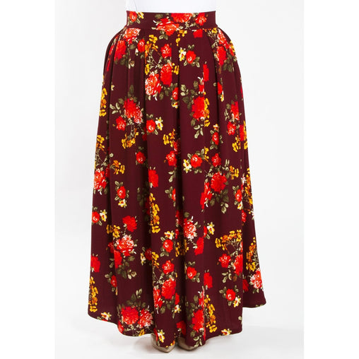 Plus Size Maxi Waistband Skirt