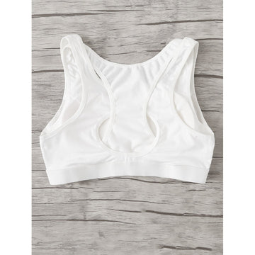 White Sporty Nylon Bra - Fashiontage