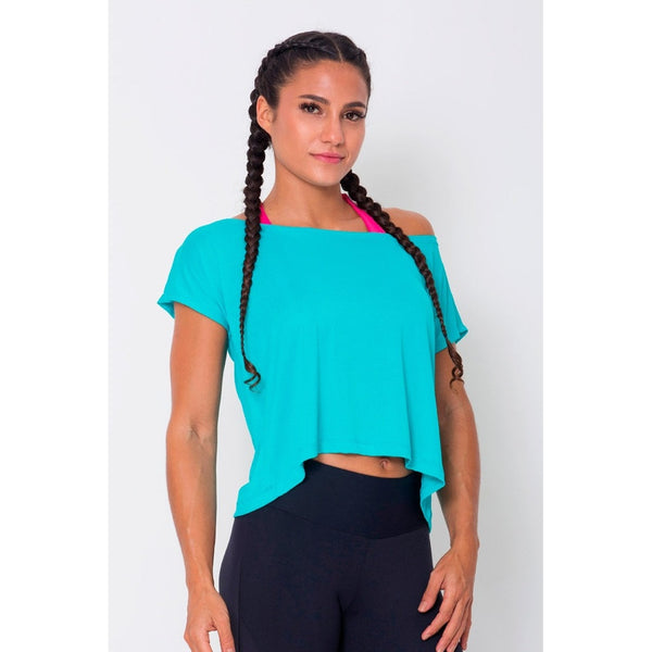 Loose Cropped Hem Sports Bra