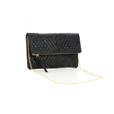 Flap Black Clutch Bag