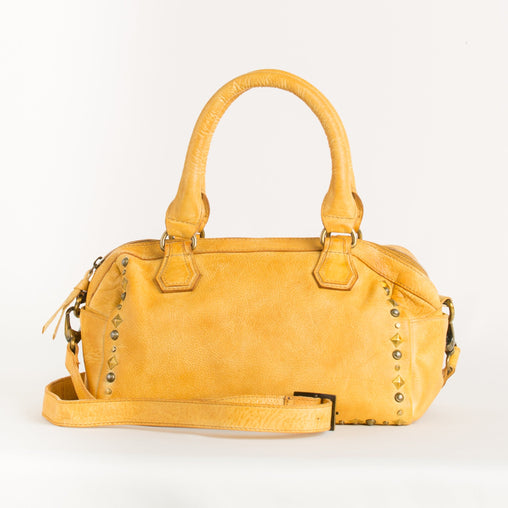 Yellow Calf Leather Handbag