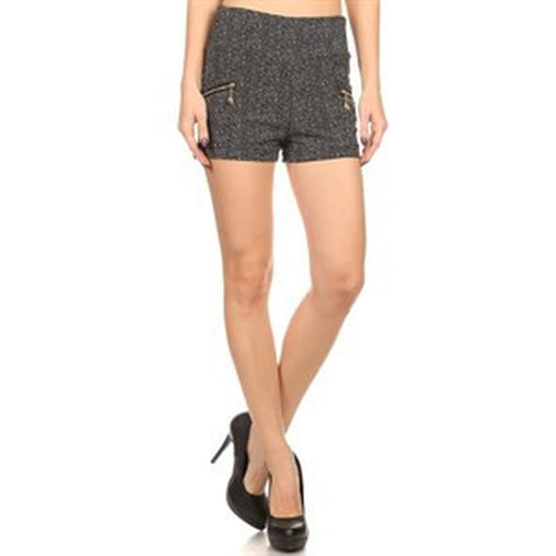 High Rise Print Chino Shorts - Fashiontage