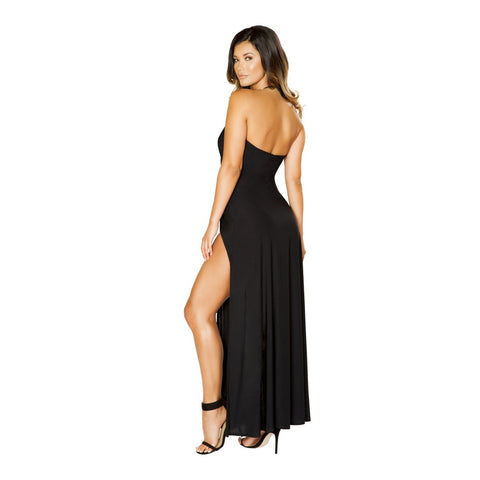 Plus Size Slit Cocktail Dress
