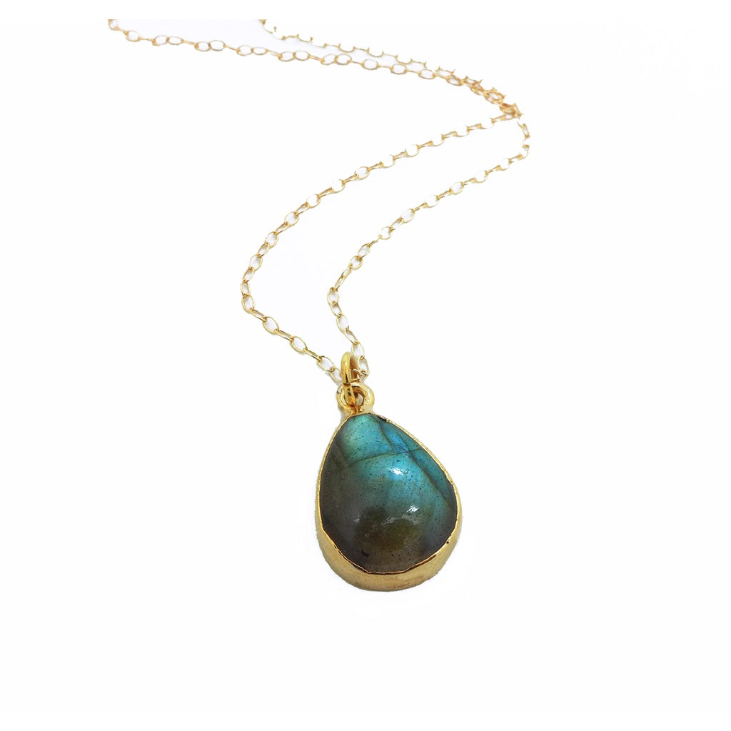 aura pendant blissful child products labradorite