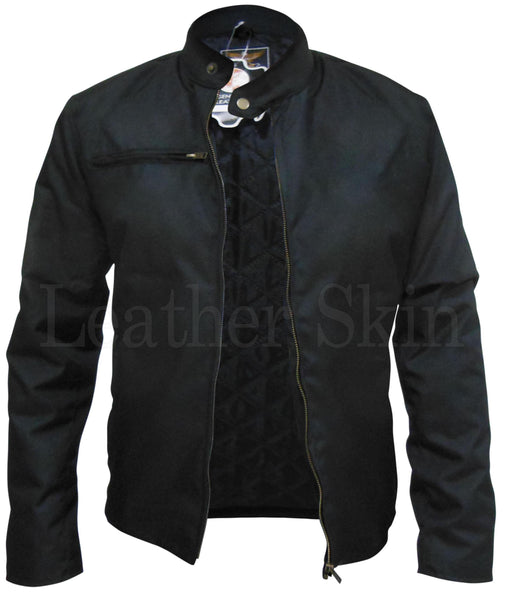 Black Corduroy Quilted Lining Jacket