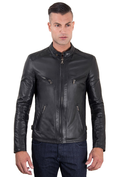 Black Leather Racing Jacket