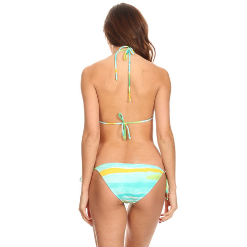 And Match Sky Printed Beach Swimwear Made In Usa