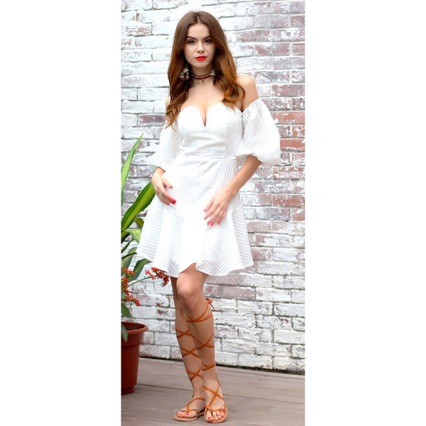 White Casual Party Dress