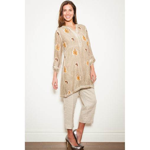 Beige Tunic Top - Fashiontage