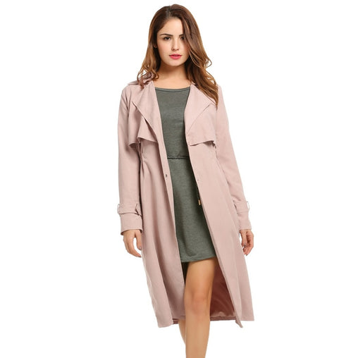Pink Collar Long Sleeve Cape Coat