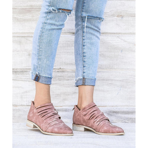 Booties - Women's Trendy Rose Ankle Booties