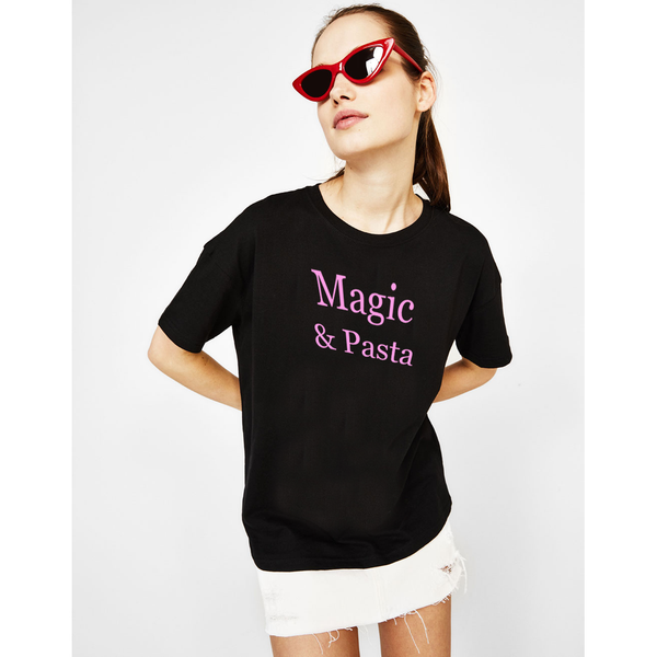Shirts & Jersey Shirts - Women's Trendy Black T-Shirt