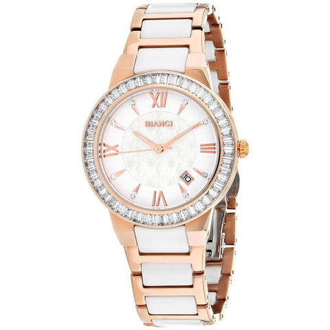 White Quartz Two Tone Watch