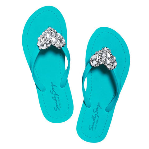 Sandals - Women's Trendy Crystal Chelsea Flat Sandal