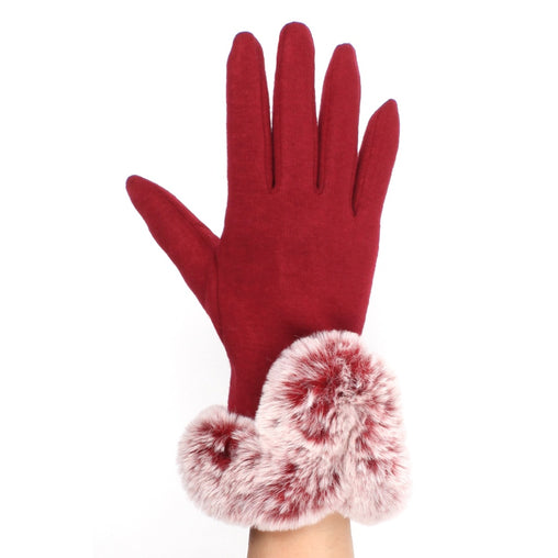 Burgundy Cotton Gloves
