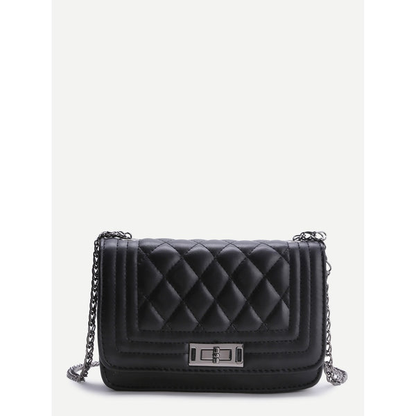 Messenger Crossbody Bags Shop Womens Black Quilted Crossbody