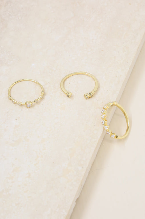 Delicate Shine Ring Set
