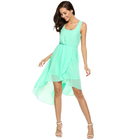 Green Hem Beach Dress