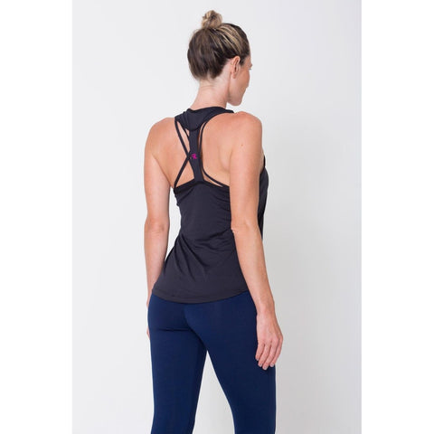 Black Relaxed Hem Sports Bra