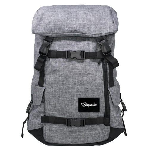 Grey Dual Side-Zip Backpack