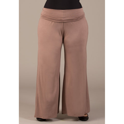 Plus Size Brown Knit Pant