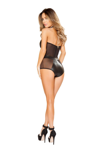 Plus Size Lingerie - Women's Trendy Plus Size See Through Romper