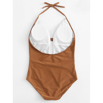 Brown Crochet Swimsuit - Fashiontage