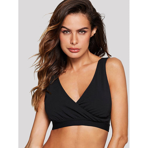 Black Wrap Sports Bra