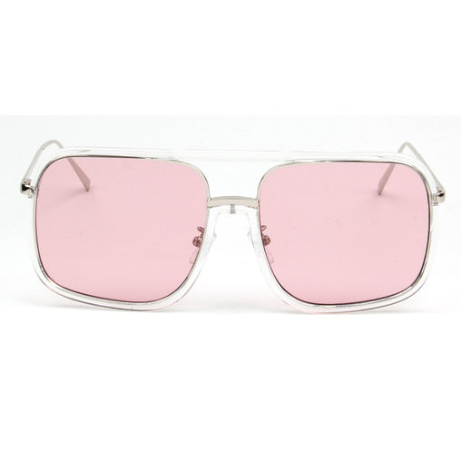 Transparent Half Frame Cat Eye Sunglass