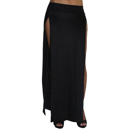Black Split Maxi Skirt