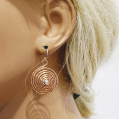 Sparkly Crystal Swirl Earrings