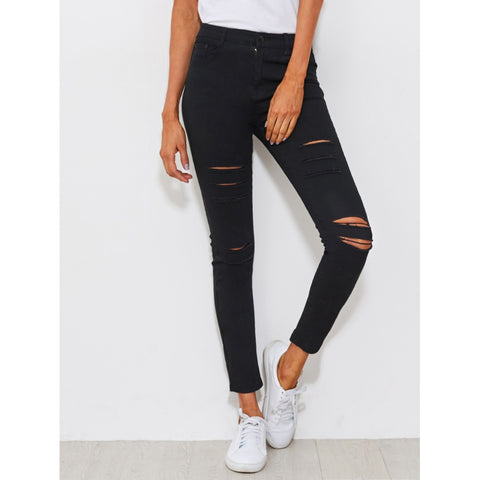 Distressed Skinny Jeans - Fashiontage