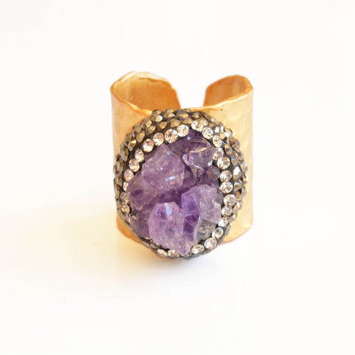 Hand Crafted Amethyst Ring