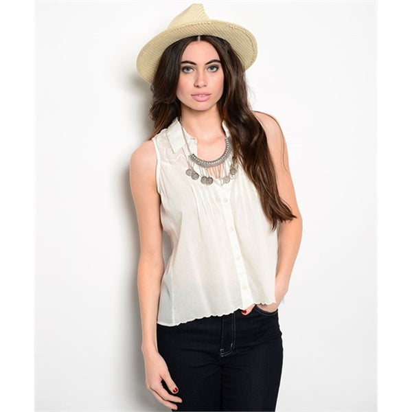 Blouses - Women's Trendy White Top