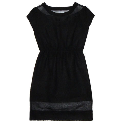 Cocktail & Party Dresses - Women's Trendy Black Sporty Party Dress