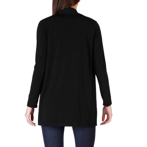 Fruscio Black Sleeves Long Sweater
