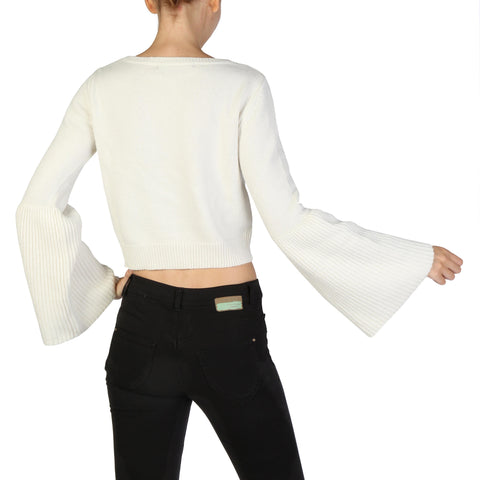 Guess White Sleeves Long Sweater