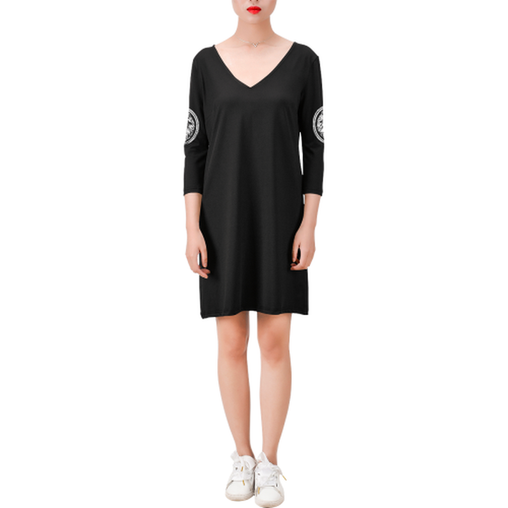 Black Casual Midi Length Dress