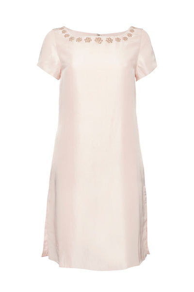 White Silk Faye Dress