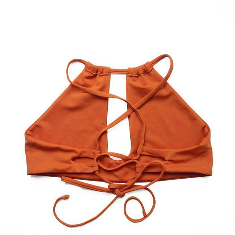 Rust Sporty Keyhole Swimsuit