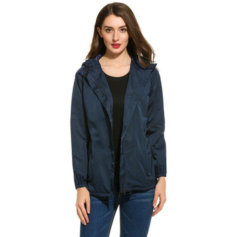 Jackets - Women's Trendy Black Hooded Elegant Jacket
