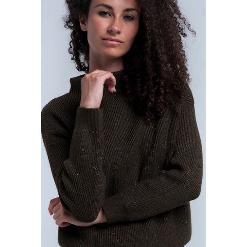Green Crew Neck Long Sleeve Sweater