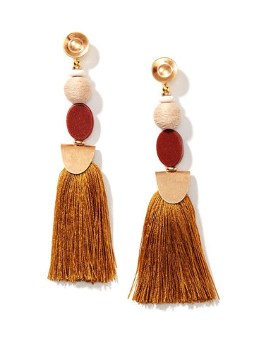 Earrings - Women's Trendy Red Tassel Earring
